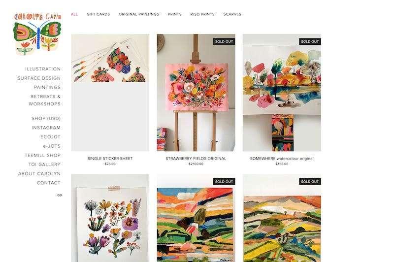 Carolyn Gavin artist website