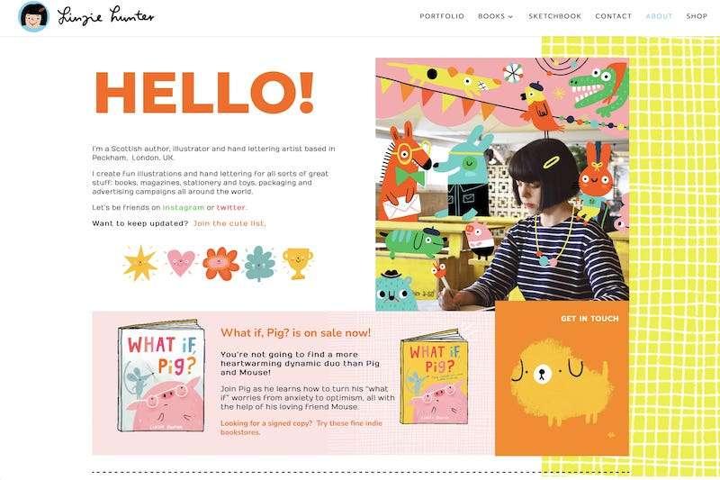 Linzie Hunter illustrator website