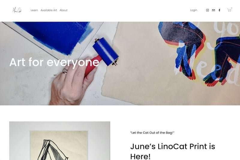 Maria artist website