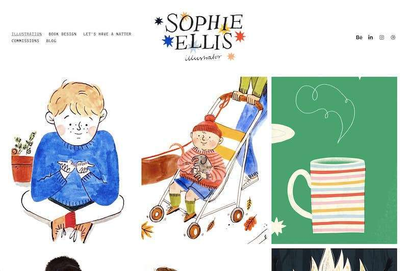 Sophie Ellis illustrator website